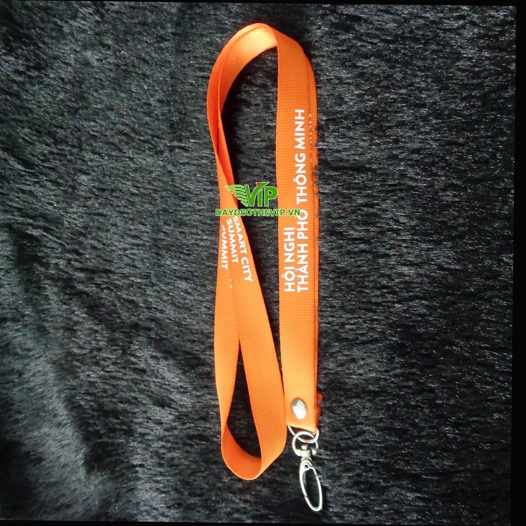 dây đeo thẻ lụa hội nghị